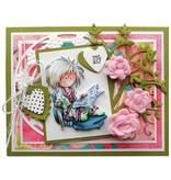 Marianne Design Prægning og skære skabelon + stempel, slik hjerter