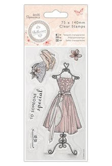 Stempel / Stamp: Transparent Clear stamps, Dress - Bellisima
