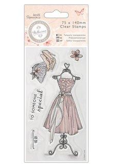 Stempel / Stamp: Transparent Klare stempler, Kjole - Bellisima