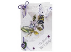 REDDY Handcraft Flower Card Set Staf Wesenbeek 3, 6 for design of cards.