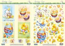 BILDER / PICTURES: Studio Light, Staf Wesenbeek, Willem Haenraets Stempling og plader motiver påske, påskeæg med ællinger, kyllinger og kaniner