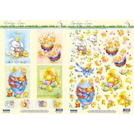 BILDER / PICTURES: Studio Light, Staf Wesenbeek, Willem Haenraets Estampado y motivos de hojas de Pascua, huevos de Pascua con patitos, pollitos y conejos