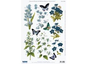 BILDER / PICTURES: Studio Light, Staf Wesenbeek, Willem Haenraets 3D udstanset ark bluebells, ensian, iris, A4