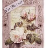 KARTEN und Zubehör / Cards 3 cards with embossed frame A6