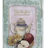 KARTEN und Zubehör / Cards 3 kaarten met reliëf kader A6
