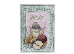 KARTEN und Zubehör / Cards 3 kort med præget ramme A6