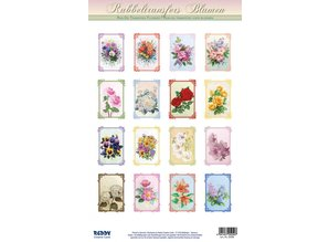 REDDY Rub, 16 bouquets for mini cards + 16 mini cards