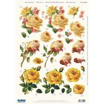 3D stansvel gele rozen, A4
