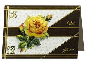BILDER / PICTURES: Studio Light, Staf Wesenbeek, Willem Haenraets 3D die cut sheet yellow roses, A4