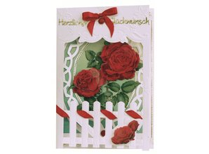 BASTELSETS / CRAFT KITS: Bastelset: Fence Cards Roses