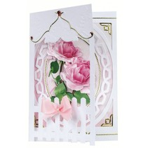 Bastelset: Omheining Kaarten Roses
