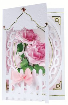 BASTELSETS / CRAFT KITS: Bastelset: Fence Cards Roses