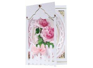BASTELSETS / CRAFT KITS: Bastelset: Rete fissa Carte Roses