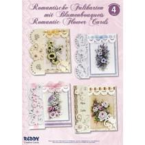 Kortsæt, Romantisk foldning, blomsterbuketter