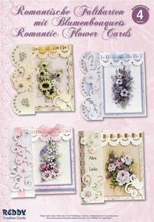 BASTELSETS / CRAFT KITS: Kortsæt, Romantisk foldning, blomsterbuketter
