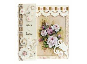 BASTELSETS / CRAFT KITS: Romantic folding, flower bouquets