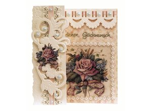 BASTELSETS / CRAFT KITS: Craft Kit: Romantisk foldning, Antique Rose