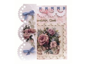 BASTELSETS / CRAFT KITS: Craft Kit: Romantic folding, Antique Rose