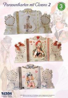 BASTELSETS / CRAFT KITS: Bastelset: Paravantkarten mit Clowns