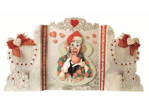 BASTELSETS / CRAFT KITS: Bastelset: Paravantkarten with clowns