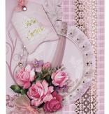 Exlusiv Bastelset: Tarjeta floral en estilo retro