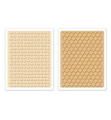 Sizzix 2 cartelle di goffratura, Texture impressioni