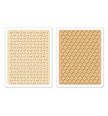 Sizzix 2 embossing folders, Textured Impressions