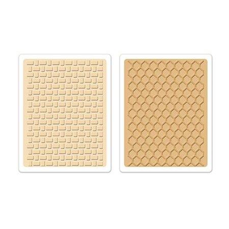 Sizzix 2 carpetas de grabación en relieve, textura impresiones