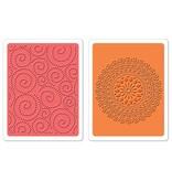 Sizzix 2 carpetas de estampación, Dot Swirl & Me