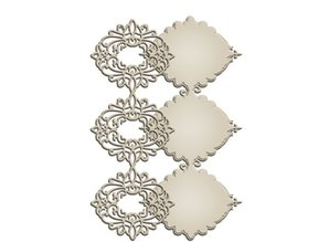 Spellbinders und Rayher Punching and embossing templates: Elegant border