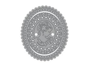 TONIC Cutting and embossing stencils, Rococo Charlotte Cameo