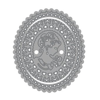 NEW: punching and embossing stencils, Rococo Charlotte Cameo