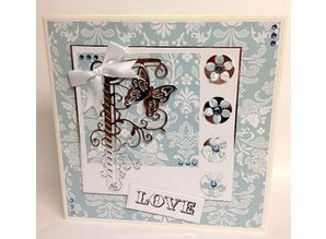 TONIC NEW: punching and embossing templates, butterflies and flower