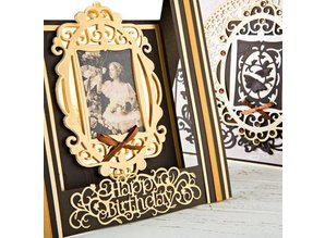 TONIC NEW: punching and embossing templates Keepsake Royal Frame & Butterfly Insert The Set