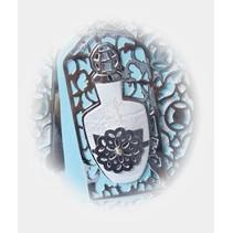 NYHED: stansning og prægning stencils, Perfum Bottle Tag