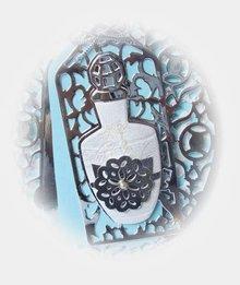 TONIC NUOVO: punzonatura e stencil goffratura, Perfum bottiglia Tag