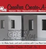 Crealies und CraftEmotions NYHED: Metal opskæring matricer til pop-up-kort!