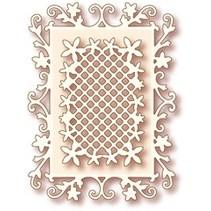 NEU: Metal Stanzschablonen, Wild Rose Studio`s Specialty die - Floral Frame