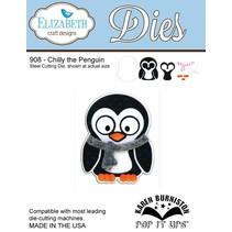 NIEUW: Het snijden van metaal sterft, Elizabeth Craft Designs, Chilly de Pinguïn door Karen Burnisto
