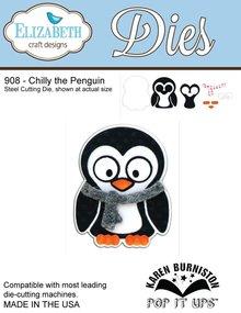 Elisabeth Craft Dies NUOVO: Taglio del metallo muore, disegni Elizabeth Craft, Chilly il Pinguino di Karen Burnisto