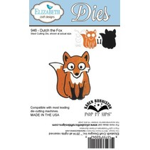"NEU: Metal Stanzschablonen,Elizabeth Craft Designs, ""Dutch the Fox"" by Karen Burnisto"