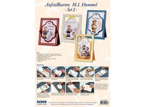 "BASTELSETS / CRAFT KITS: 3D NoteCard: ""MI Hummel"", per 4 carte"