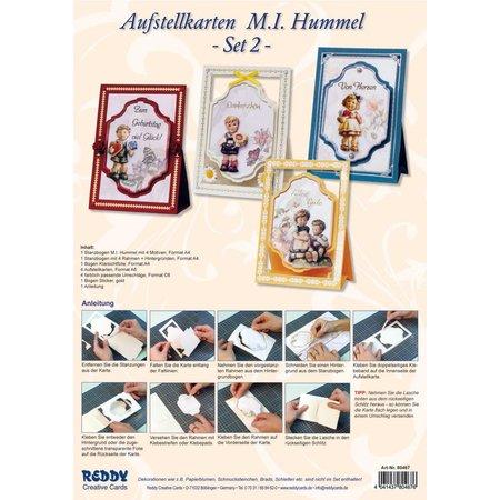 """BASTELSETS / CRAFT KITS: 3D-Aufstellkarten:  """"M.I.HUMMEL"""", für 4 Karten"""