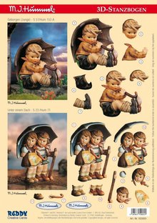 "BILDER / PICTURES: Studio Light, Staf Wesenbeek, Willem Haenraets 3D Die Cut sheet: ""MI HUMMEL"", for 2 Themes"