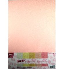 DESIGNER BLÖCKE  / DESIGNER PAPER Paper Bluten papierset, 5x2st licht