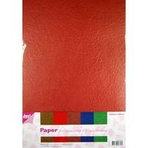 Paper Blossom Papierset, 5 x 2 vel (A4) warme kleur