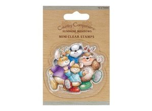 Yvonne Creations 75 x 75mm Mini Transparent Stempel - Country Companions