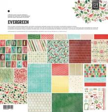 DESIGNER BLÖCKE  / DESIGNER PAPER Bloque Diseñadores, Basic Grey - Evergreen - Pack Collection
