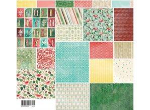 DESIGNER BLÖCKE  / DESIGNER PAPER Blocco Designers, Basic Grey - Evergreen - Collezione Confezione