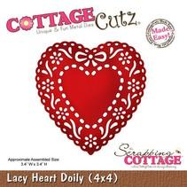 Stanz- und Prägeschablone,Lacy Heart Doily (4x4), Deckchen Herz